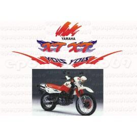 Autocollants stickers Yamaha XTE 600 annee 1996