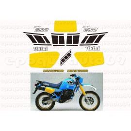 Autocollants stickers Yamaha XTZ 600 annee 1990