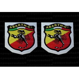 4 autocollants stickers ABARTH