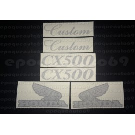 Kit 6 autocollants Stickers HONDA CX 500 Custom