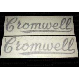2 autocollants stickers Cromwell