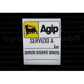 Autocollant Sticker AGIP service