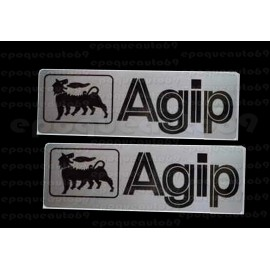 2 Autocollants stickers AGIP