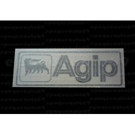 Autocollant AGIP fond transparent