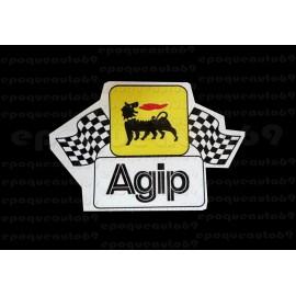 2 Autocollants stickers AGIP drapeaux