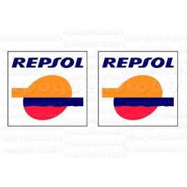 2 autocollants stickers REPSOL