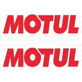 2 autocollants stickers MOTUL