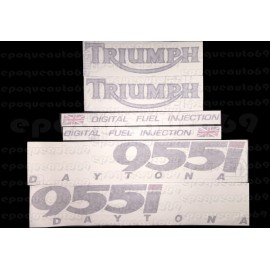 Kit autocollants Stickers triumph daytona 955 i de 2000