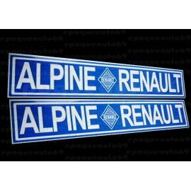 2 Autocollants Alpine Renault Haute Qualité