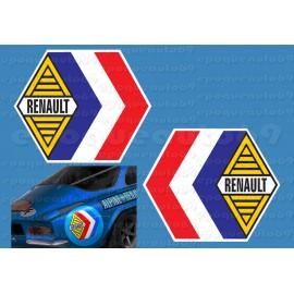 2 Autocollants ailes arrière Renault Alpine Haute Qualité
