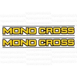 2 autocollants stickers MONOCROSS