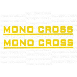 2 autocollants stickers MONOCROSS jaune