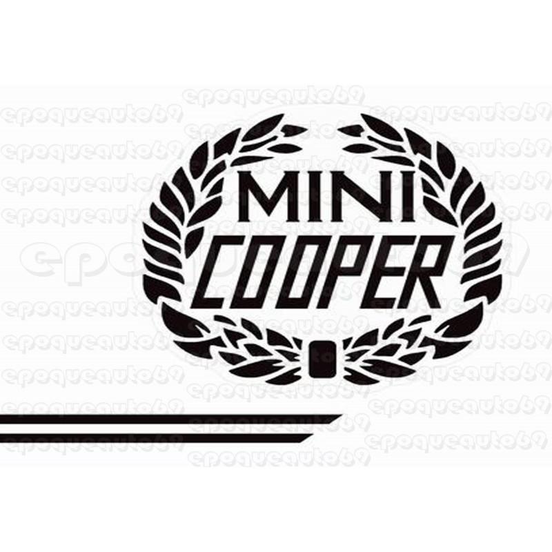 autocollants stickers austin mini cooper noir