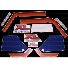 Kit autocollants Stickers Honda HONDA 600 XLM 1984