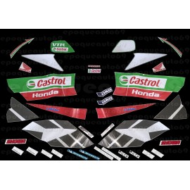 Autocollants - Stickers Honda VTR Sp2 Castrol