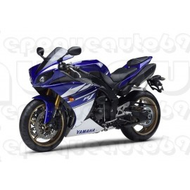 Kit autocollants stickers Yamaha YZF-R1 2010 version noir