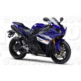 Kit autocollants stickers Yamaha YZF-R1 2011 version noir bleu