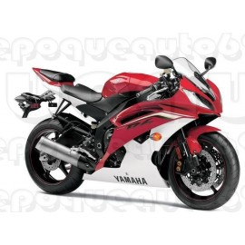 Autocollants stickers Yamaha YZF-R6 2013 - version rouge / blanc