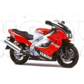 Autocollants Stickers Yamaha YZF 1000R année 1997 bordeau / argent
