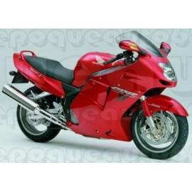 Autocollants Stickers Honda CBR 1100 XX 2001 version bordeau / rouge