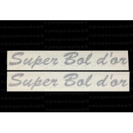 Kit 2 autocollants Stickers super bol d'or