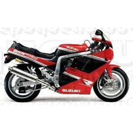 Autocollants - stickers Suzuki GSX-R 1100 1990 rouge / noir