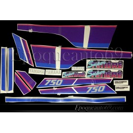 Autocollants Stickers yamaha super tenere xtz 750 de 1991