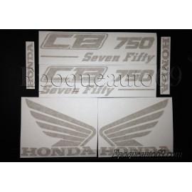 Kit 7 autocollants Stickers Honda HONDA 600 XLM