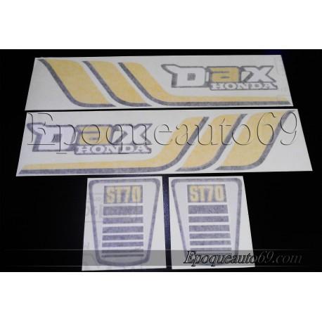 """Kit """"poutre"""" autocollants Stickers HONDA DAX ST70 année 1979"""