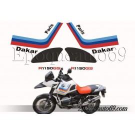 Kit autocollants - stickers bmw R 1150 GS Paris Dakar