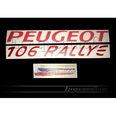 Autocollants coffre hayon Peugeot 106 rallye phase 2