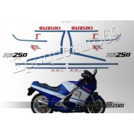 Autocollants - Stickers suzuki rgv 250 gamma année 1991 moto blanche