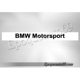 Autocollant - sticker Pare soleil bmw motorsport (Lettrage)