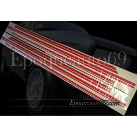 Autocollants Bandes latérales Peugeot 104 zs zs 2
