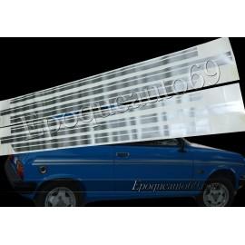 Autocollants Bandes latérales Peugeot 104 zs bleu Ibis
