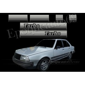 Kit complet Autocollants Renault 18 Turbo