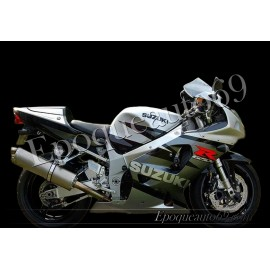 Autocollants - stickers Suzuki GSX-R 750 2003 version gris / argent