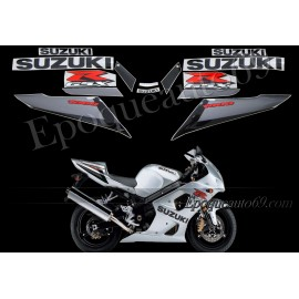 Kit autocollants stickers Suzuki GSX-R 1000 2003 version argent