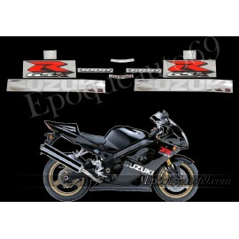 Kit autocollants stickers Suzuki GSX-R 1000 2004 version noir