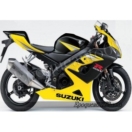 Kit autocollants stickers Suzuki GSX-R 1000 2005 version jaune / noir