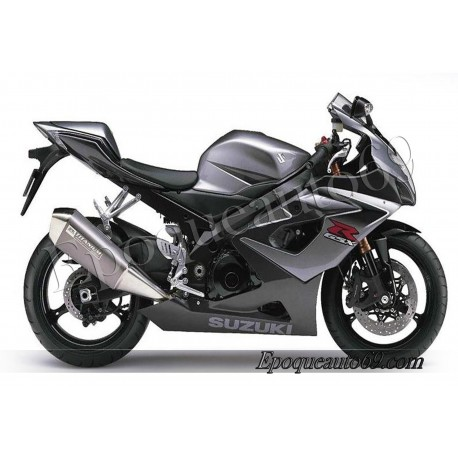 Kit autocollants stickers Suzuki GSX-R 1000 2006 version noir / gris