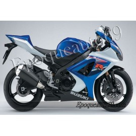 Kit autocollants stickers Suzuki GSX-R 1000 2007 version blanc / bleu