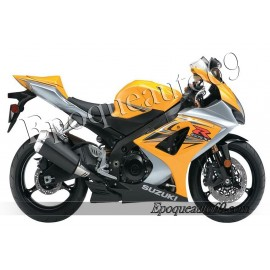 Kit autocollants stickers Suzuki GSX-R 1000 2007 version jaune / argent