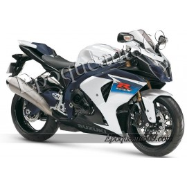 Kit autocollants stickers Suzuki GSX-R 1000 2010 version blanc / noir