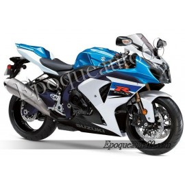 Kit autocollants stickers Suzuki GSX-R 1000 2011 version blanc / bleu