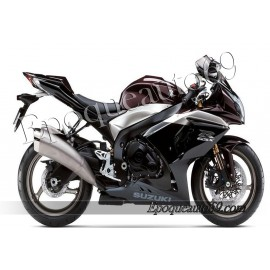 Kit autocollants stickers Suzuki GSX-R 1000 2009 version noir