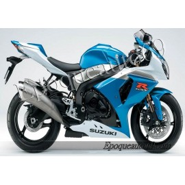 Kit autocollants stickers Suzuki GSX-R 1000 2009 version Blanc