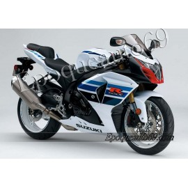 Kit autocollants stickers Suzuki GSX-R 1000 2012 version Blanc/bleu