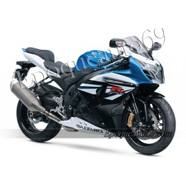 Kit autocollants stickers Suzuki GSX-R 1000 2013 version Blanc/bleu