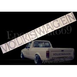 Autocollant hayon volkswagen Golf Caddy Mk1